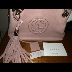 Authentic Gucci Soho Leather Shoulder bag Small